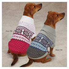 Pet Edge Avalanche Dog Sweaters - S/M - Blue