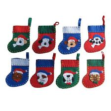Christmas Treat Stockings For Pets - Green w/ Red Trim - Cat