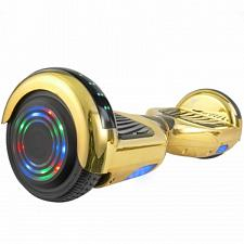 Hoverboard in Gold Chrome with Bluetooth Speakers