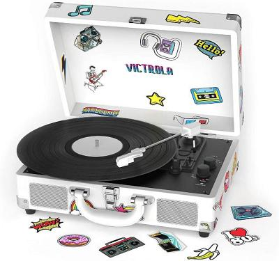 Innovative Technology VSC-400SB-CNV Bluetooth Suitcase Turntable Canvas