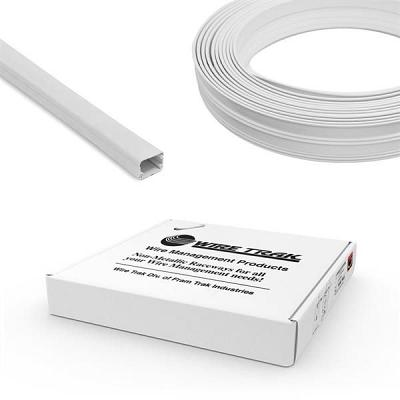 Cmple Wire Trak On A Roll 3/4Inch H X 1/2Inch W, 50 Ft, White, R