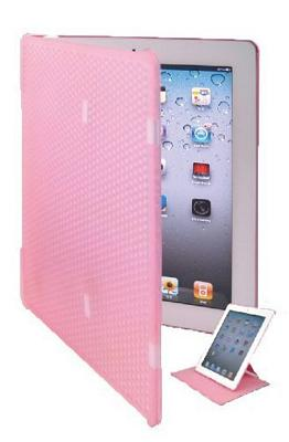 Keydex Slim-Fit Genius Cover for iPad with Rotating Stand - Pink