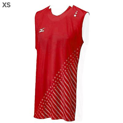 Mizuno DryLite Men's National VI Sleeveless Jersey, Red & White