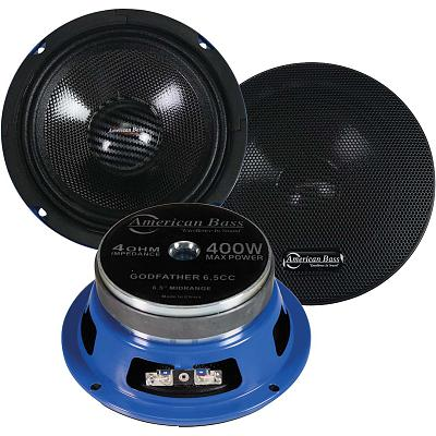 "American Bass 6.5"" Midrange Speakers 400W Max 4 Ohm (Pair)"