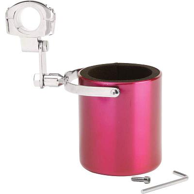 Diamond Plate Pink Stainless Steel Motorcycle Cup Holder GFCUPPN