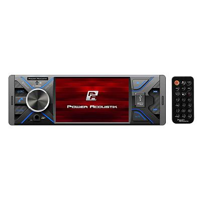 Power Acoustik 4.3??? Single Din Mechless Fixed Face Receiver With Bluetooth Usb