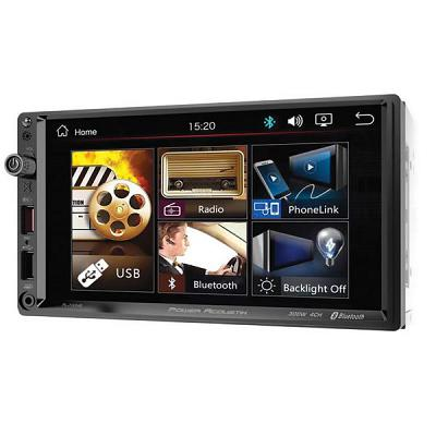 "Power Acoustik 7"" Double Din Multimedia Unit Bluetooth Usbaux300Wx4Ch"