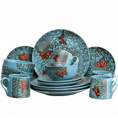 Elamau0027s Butterfly Garden 16 Piece Stoneware Dinnerware Set  sc 1 st  MeoEstore.com & Elamau0027s Butterfly Garden 16 Piece Stoneware Dinnerware Set ...